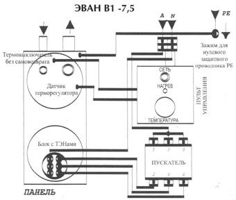 электрическая схема электрокотла