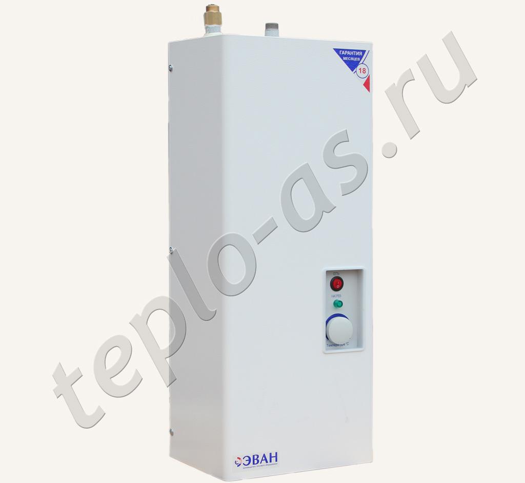схема подключения электрокотла эван к системе отопления