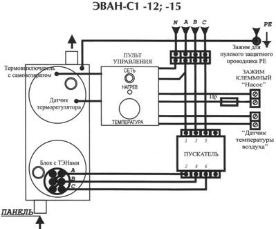Схема подключения эпвн